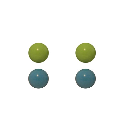 Light Green Baby blue studs