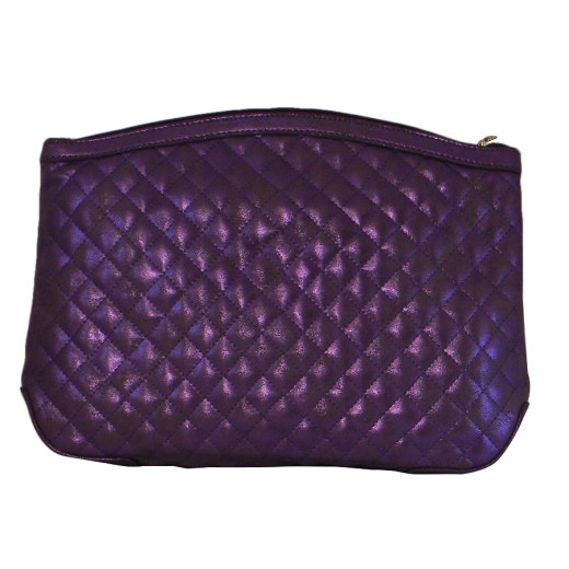 Purple Metallic Make up Bag 1