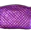 Quillted Purple Metallic Cosmetic Case