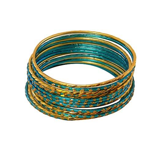 KrisKlank Bangles Gold Blue