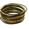 black gold bangles