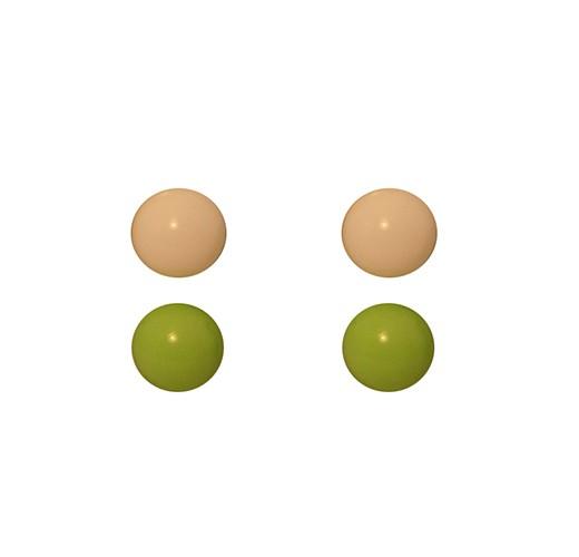 Green White Studs 2