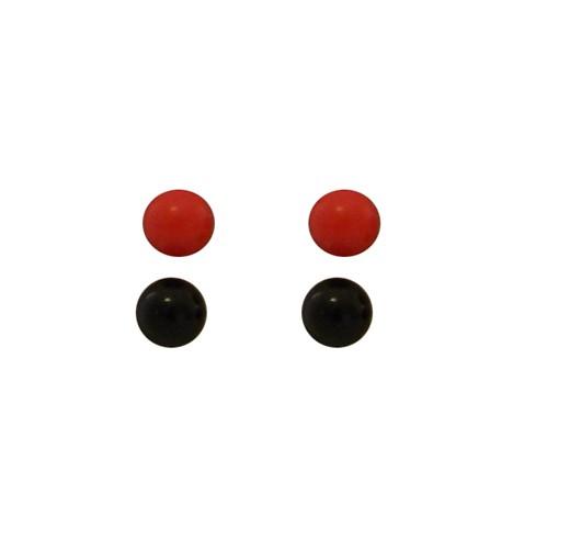 Red Black studs 2