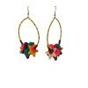 kk  leopard blue stars earrings