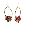 kkl eopard blue star earrings1