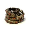 Vingtaged Snake Wrap Braclet Brown