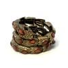 Vingtaged Snake Wrap Braclet Brown