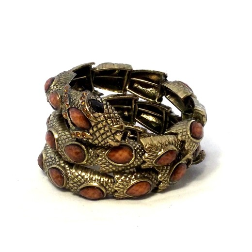 Snake Wrap Braclet Brown