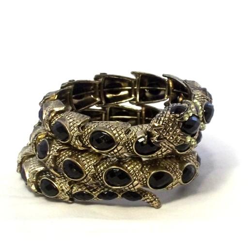 Snake Wrap braclet Black