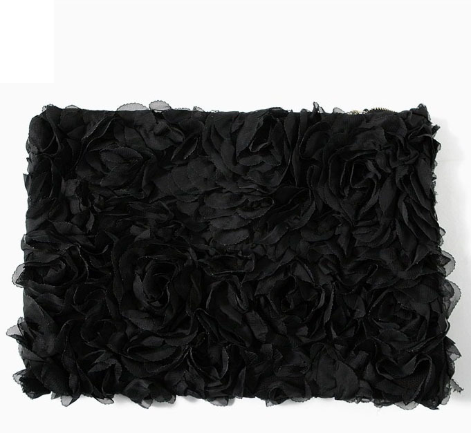 KrisKlank Flower Clutch Black
